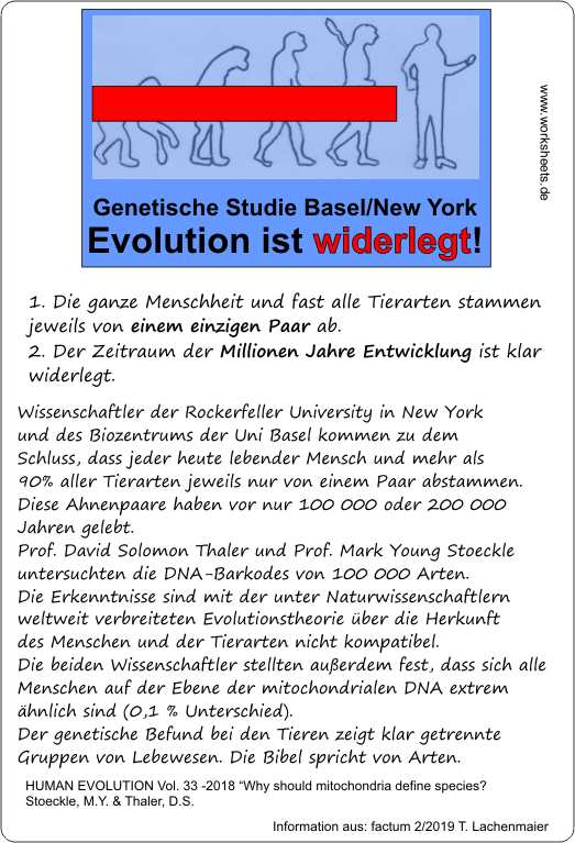 Evolution ist widerlegt-Genetik-n