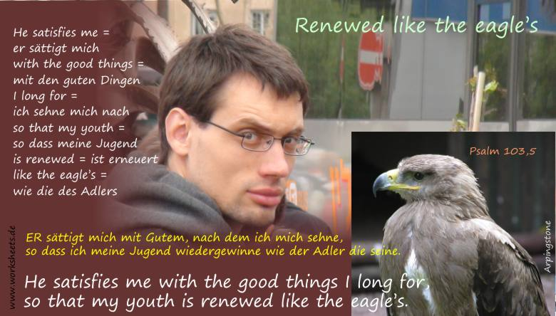 Renewed like the eagle's - Schweben wie ein Adler